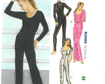 Sewing Pattern - Catsuit Pattern, DIY Bodysuit, Jumpsuit, Halloween Costume,Dance Costume,Unitard,Festival Clothing-Kwik Sew Patterns #K3052
