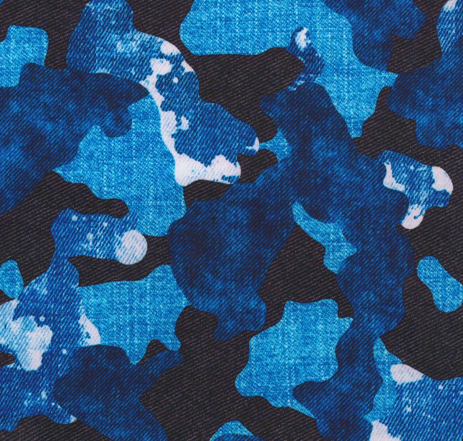 Stretch fabric pre order camouflage denim print fabric four for Where to order fabric