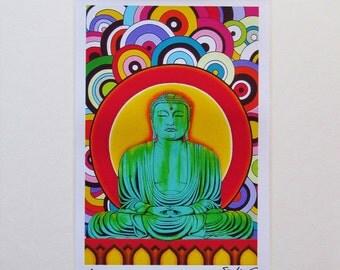 Groovy Buddha Fine Art Print by Joseph Sonday