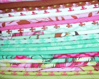 """9 FQ bundle from Tula Pink """"Plume"""" collection"""