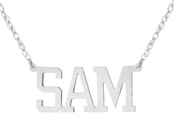 925 Sterling Silver Personalized Custom Made Any Nameplate Pendant Necklace