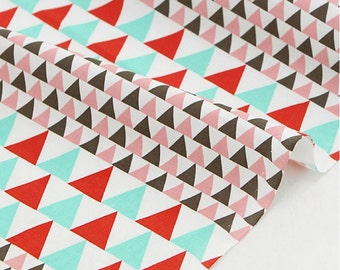 Cotton Fabric Colorful Triangle By The Yard