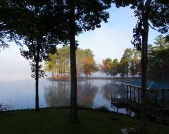 Foggy Fall Morning on Lake Tillery