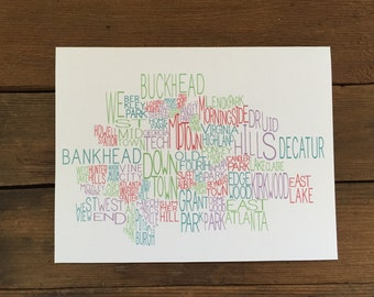 Atlanta Neighborhoods Notecard