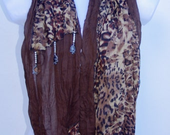 Scarves For Women Unique Scarves Fashion Scarves Womens Winter Spring Scarves Womens Scarves Shawl Scarf Gift Ideas For Her Brown Scarf
