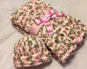Crochet Baby Blanket, Baby Blanket, Crochet Pink Baby Blanket, Crochet Blanket, Baby Afghan, Baby Shower Gift, Newborn Blanket