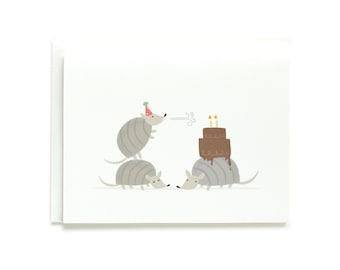 Party Armadillos Birthday Card