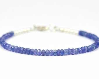 Tanzanite Bracelet, Purple Gemstone Bracelet, Deliacate Bracelet, Lavender Beads, Gemstone Bracelet, Handmade Jewelry, Gemstone Jewelry