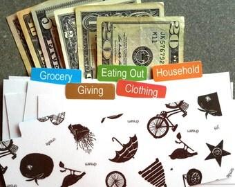 Cash Envelope Tabs - Set of 6