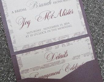 Petite Bridal Shower Pocket Invitation