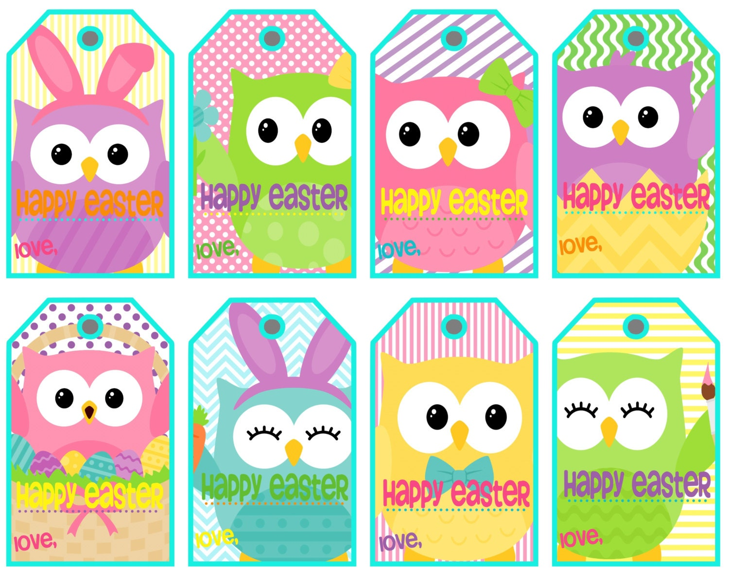 This is a graphic of Impeccable Printable Easter Tag