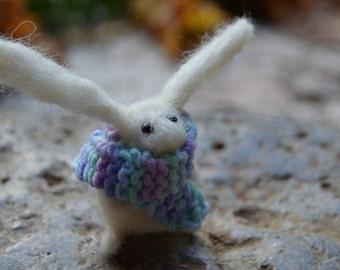 Baby Needle Felt Rabbit, Handmade,Bunny,Hare,Woodland,Critter,Needlefelt,Animal,Soft Sculpture, OOAK, Fibre Art, Miniature
