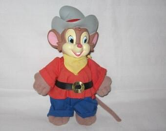 vintage 1991 fievel go west 9 inch plush doll