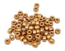 Gold Pony Beads Glass Pony Beads Round Czech Glass Beads Czech Beads Roller Beads Glass Crow Beads Gold Round Beads 6mm X 4mm 50pcs