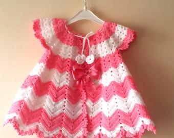 Crochet Chevron Baby Dress Pattern : crochet dress pattern ? Etsy