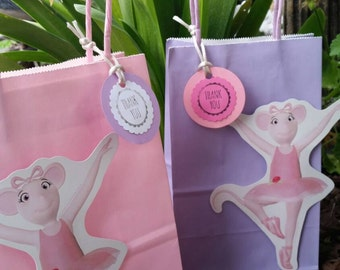 Angelina Ballerina Party Favor  Bags. \ 12 bags