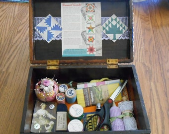 Wedding Shower Gift: Biggest and Best Up-cycled Hipster Graduation, Gift for Book Lover, Rescued and Recycled Sewing Notions, Funky to Use