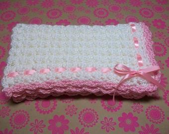 Pink Crochet Baby Blanket, Pink Crochet Baby Afghan, Pink Newborn Blanket, Pink Newborn Afghan, Pink Baby Shower Gift