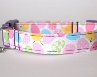 "Handmade Easter Eggs & Chicks Dog Collar ""New"""