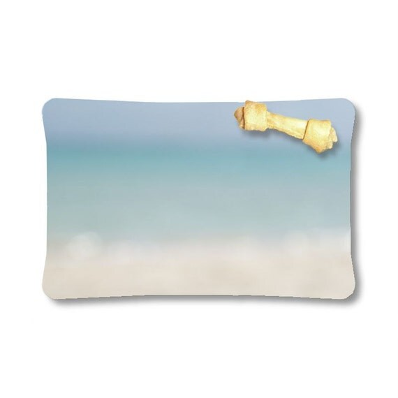 Pet Beds, Abstract Ocean, Beach Photography, Photo Products, Outdoor Dog Bed, Indoor Bed, Tropical Decor, Blue and Beige, Light Color