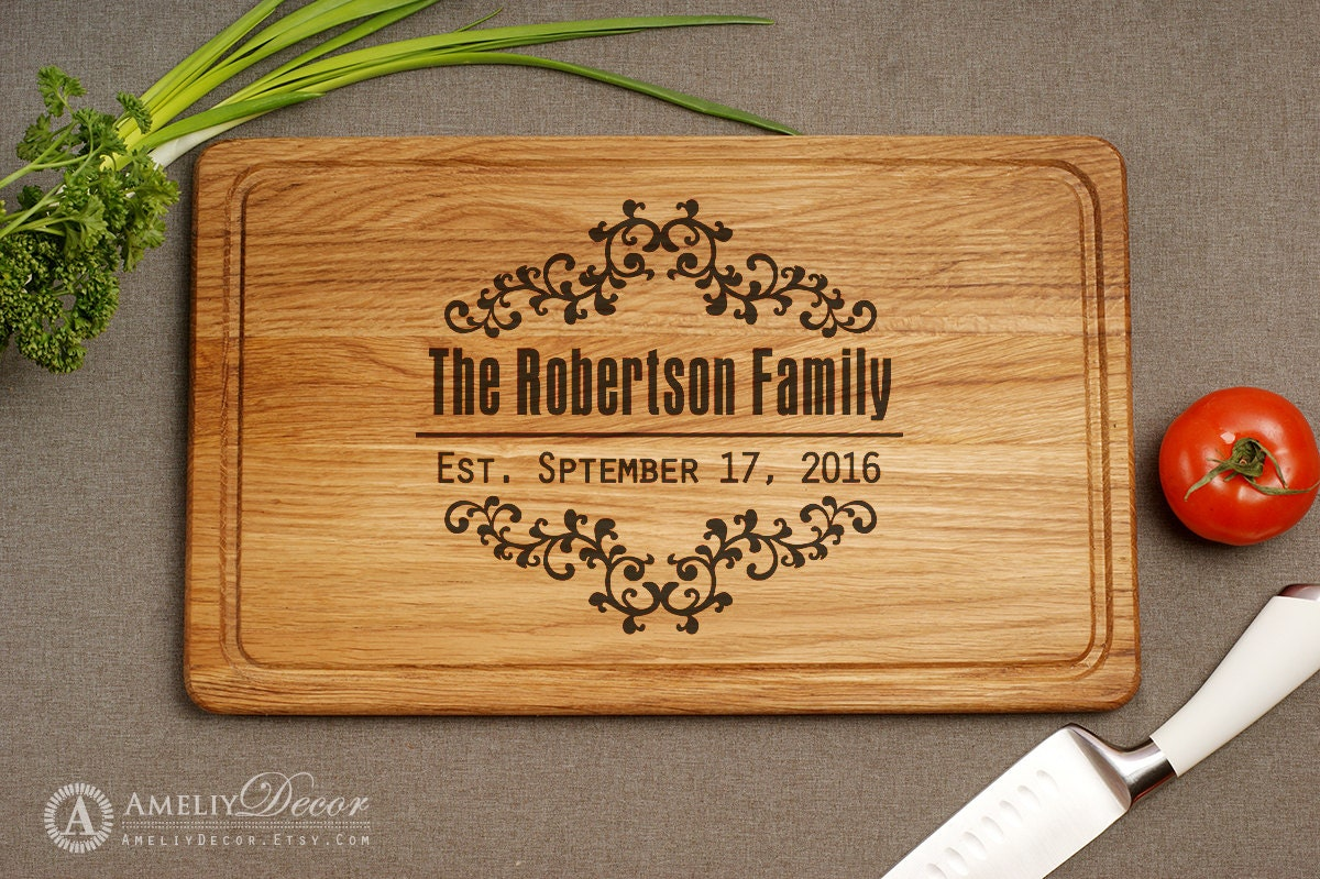 personalized kitchen accessories kitchen decor cutting board personalized engraved by 1471