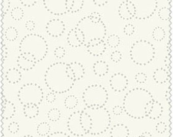 Spring Hare - Cream Circles by Lewis and Irene (A61-1) Fabric Yardage