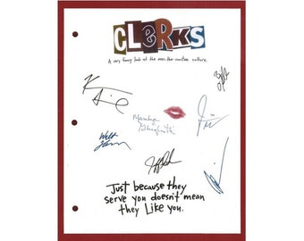 Clerks Movie Script Signed Screenplay Autographed Kevin Smith, Brian O'Halloran, Jeff Anderson, Marilyn Ghigliotti, Jason Mewes