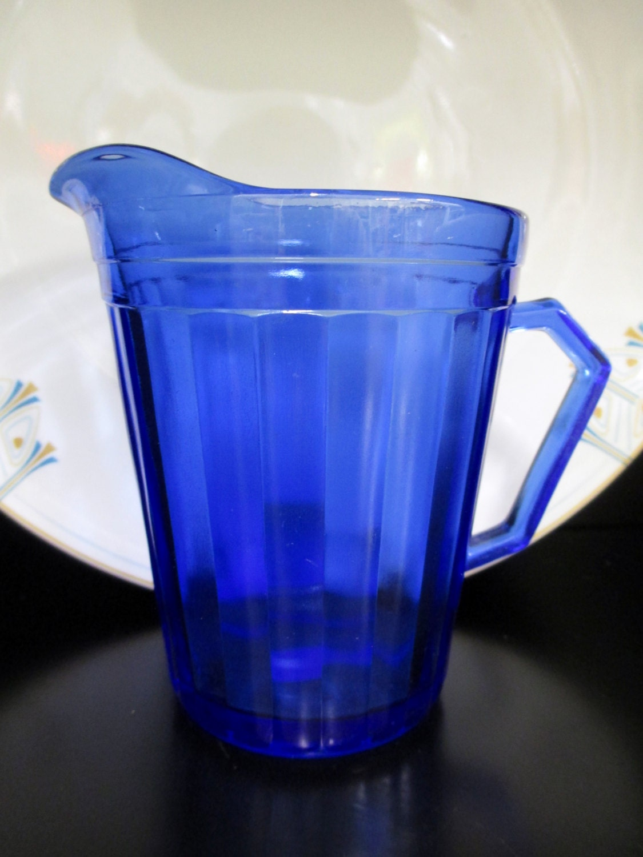 Hazel Atlas Depression Glass Hazel Atlas Pitcher Blue