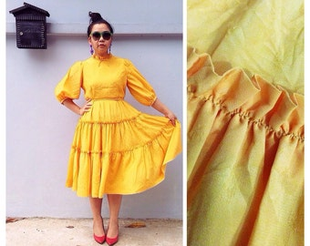 Massive Clearance Sales 80s Vintage Victorian Style Dress