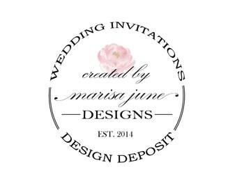 Deposit on Custom Invitations