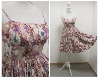 BEAUTIFUL Petite 1950's New Look Style Floral Dress  - VLV  - Size XS