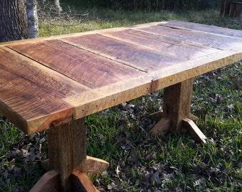 Montana made barnwood dining table.
