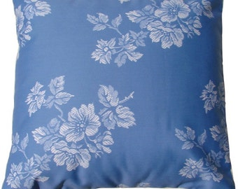 Flowers Cushion in Blue color, made with mattress fabric. Insert included.
