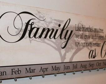 Personalized Family Birthday Board Calendar - Family Tree