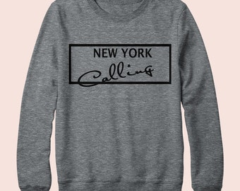 New York  is Calling - Sweatshirt, Crew Neck, Graphic