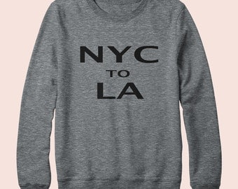 NYC to LA - Sweatshirt, Crew Neck, Graphic