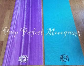 SALE Monogrammed Yoga Mat