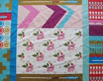 Ruby Star Polka Dot Cheater Print Teal/Pink - Melody Miller - Kokka (JG-56510-12B)