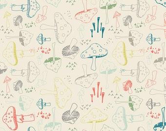 Hello Bear - Morel Grove Powder - Bonnie Christine - Art Gallery Fabrics (HBR-4432)