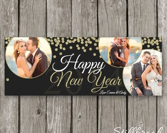 New Years Facebook Timeline - Happy New Year Template - NYE Facebook Banner Timeline - New Years Even Photography Template - TC27