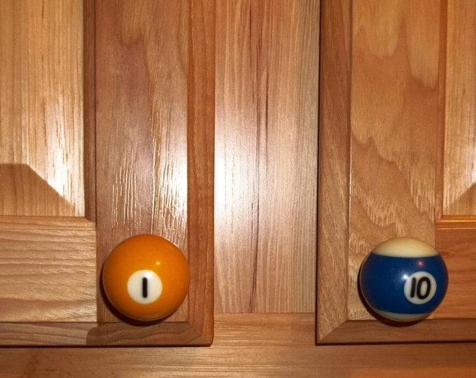 Featured listing image: Handcrafted 1-1/2 inch Pool Ball Cabinet Drawer and Cabinet Door Pulls