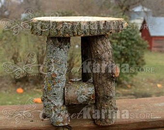 Real Wood Childrens Log Stool Photo Photography Prop