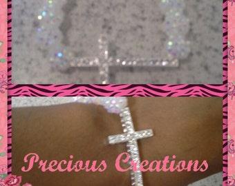 Beautiful Sparkle Cross Bracelet