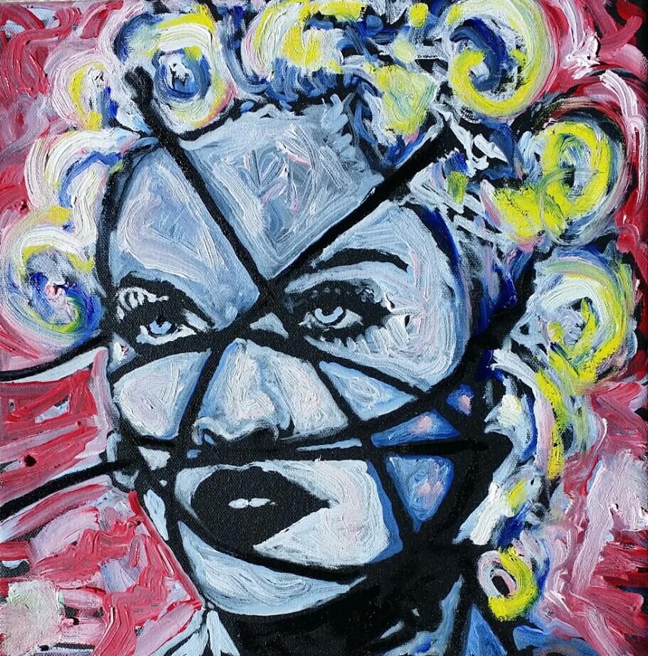 madonna art by matt pecson pop art painting original painting zoom