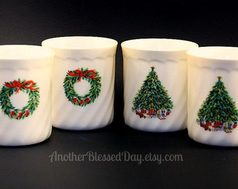 Vintage Salem China Co Noel Christmas Porcelle Mugs