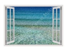 """30% OFF! Window Sticker Decal """"Aqua"""" decoration Poster Photo Artwork Gallery Photos print Reproduction wall art Present For All Ho"""
