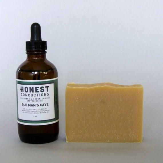 Man Cave Beard Oil : Beard care set old man s cave oil by