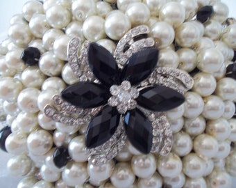 Large Pearl and Brooch Bouquet.