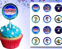Angry Birds Transformers - Cup Cake Cupcake Topper Toppers Printable Birthday Party Personalized Custom DIY
