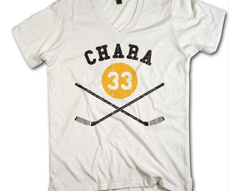 Zdeno Chára Officially Licensed NHLPA Boston V-Neck Mens XS-2XL Zdeno Chára Sticks Y